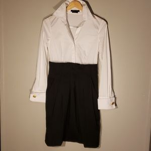 BCBGMAXAZRIA Botton shirt dress.